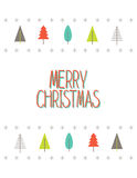 Tarjeta de la Feliz Navidad con los árboles de navidad Vector Foto de archivo libre de regalías