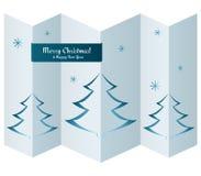 Tarjeta de la Feliz Navidad con los árboles en la textura de papel Imagenes de archivo