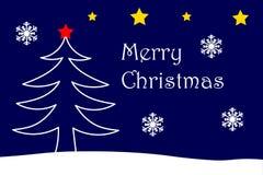 Tarjeta de la Feliz Navidad con tema de la Navidad Imagenes de archivo