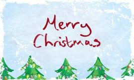 Tarjeta de la Feliz Navidad de Grunge Imágenes de archivo libres de regalías