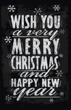 Tarjeta de la Feliz Navidad del vector Imagenes de archivo
