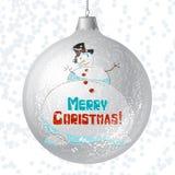 Tarjeta de la Feliz Navidad del vector con brillante brillante Fotografía de archivo libre de regalías