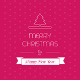 Tarjeta de la Feliz Navidad, saludando la decoración, postal de Navidad, diseño del Año Nuevo Imagenes de archivo