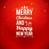 Tarjeta de la Feliz Navidad y de la Feliz Año Nuevo. Fotografía de archivo libre de regalías