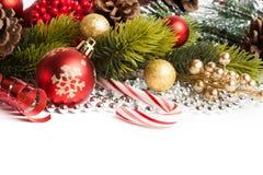 Tarjeta de la Feliz Navidad y de la Feliz Año Nuevo Foto de archivo libre de regalías