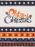 Tarjeta de la Feliz Navidad y de la Feliz Año Nuevo Imagen de archivo libre de regalías