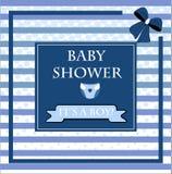 Tarjeta de la fiesta de bienvenida al bebé, para el bebé Foto de archivo libre de regalías