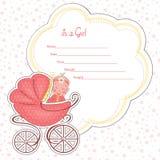 Tarjeta de la fiesta de bienvenida al bebé para un recién nacido Vector Imagen de archivo libre de regalías