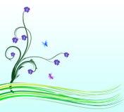 Tarjeta de la flor Fotografía de archivo
