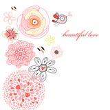 Tarjeta de la flor Imagen de archivo libre de regalías