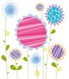 Tarjeta de la flor Foto de archivo
