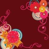 Tarjeta de la flor de la amapola EPS 10 Imágenes de archivo libres de regalías