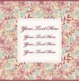 Tarjeta de la flor de la historieta Fotos de archivo libres de regalías