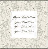Tarjeta de la flor de la historieta Foto de archivo libre de regalías