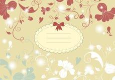 Tarjeta de la flor de la vendimia Fotos de archivo libres de regalías