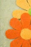 Tarjeta de la flor de las tarjetas del día de San Valentín Fotografía de archivo libre de regalías