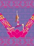 Tarjeta de la forma de vida de la yoga Fotografía de archivo libre de regalías