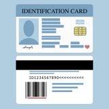 Tarjeta de la identificación stock de ilustración