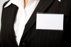 Tarjeta de la identificación Imagen de archivo libre de regalías