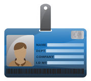 Tarjeta de la identificación con el muchacho Foto de archivo