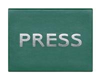 Tarjeta de la identificación de un periodista Fotos de archivo libres de regalías
