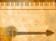 Tarjeta de la industria musical stock de ilustración
