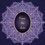 Tarjeta _1 de la invitación Fotografía de archivo