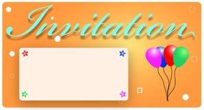 Tarjeta de la invitación Fotos de archivo libres de regalías