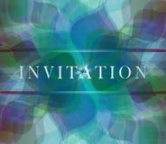Tarjeta de la invitación Fotografía de archivo