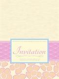 Tarjeta de la invitación Fotografía de archivo libre de regalías