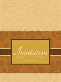 Tarjeta de la invitación Fotos de archivo