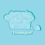 Tarjeta _1 de la invitación Imagen de archivo