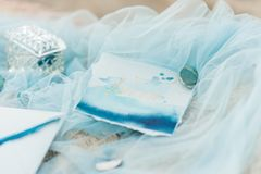 Tarjeta de la invitación de la boda para la boda Fotos de archivo