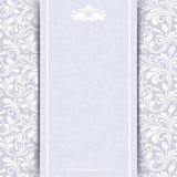 Tarjeta de la invitación con el estampado de flores stock de ilustración