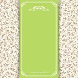 Tarjeta de la invitación con el estampado de flores Ilustración del vector ilustración del vector