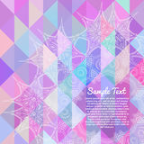 Tarjeta de la invitación con el fondo geométrico abstracto Foto de archivo libre de regalías