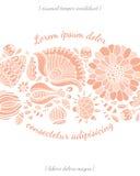 Tarjeta de la invitación con la plantilla de la flor Imagen de archivo