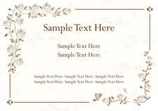 Tarjeta de la invitación con los ornamentos de la flor, hermosos Imágenes de archivo libres de regalías