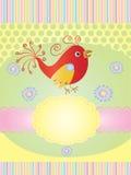 Tarjeta de la invitación con un pájaro Imagenes de archivo