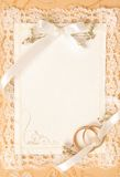 Tarjeta de la invitación de la boda Fotografía de archivo