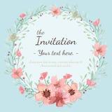 Tarjeta de la invitación de la boda Fotos de archivo libres de regalías