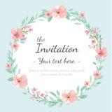 Tarjeta de la invitación de la boda Libre Illustration