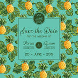 Tarjeta de la invitación de la boda Imágenes de archivo libres de regalías