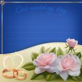 Tarjeta de la invitación de la boda Fotos de archivo