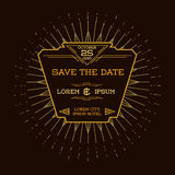 Tarjeta de la invitación de la boda - Art Deco Style Imagenes de archivo