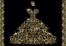 Tarjeta de la invitación de la boda de la moda, vector Imagen de archivo