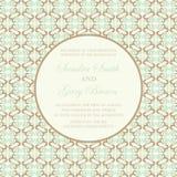 Tarjeta de la invitación de la boda del vintage Imagen de archivo