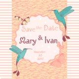 Tarjeta de la invitación de la boda editable con el fondo Imágenes de archivo libres de regalías
