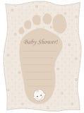 Tarjeta de la invitación de la ducha de bebé Fotos de archivo libres de regalías