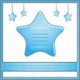Tarjeta de la invitación de la ducha del bebé Imagen de archivo